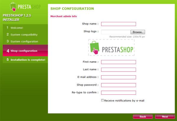 Základní konfigurace PrestaShopu